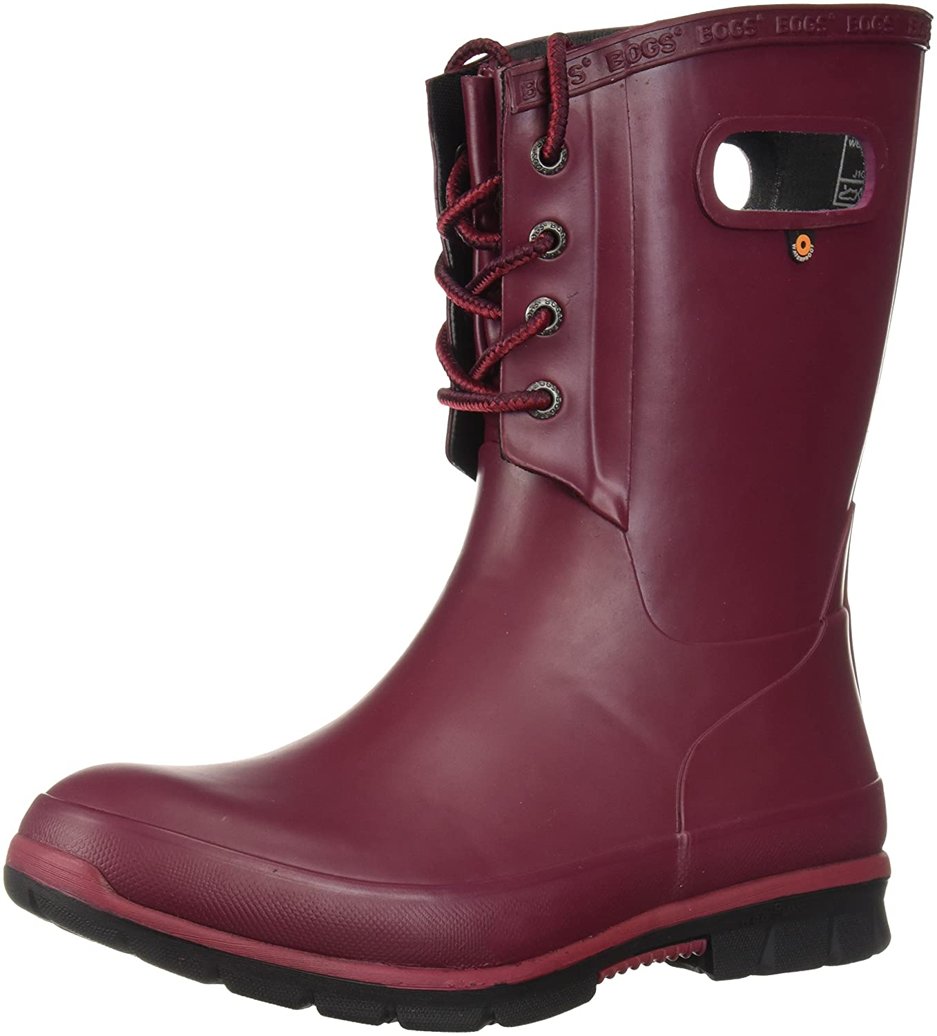Bogs Women's Amanda 4-Eye Solid Rain Boot B073PZS7V6 7 B(M) US|Burgundy