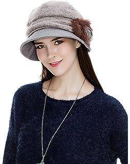 34c14d23495ca Siggi Cloche Round Hat for Women 1920s Fedora Bucket Vintage Hat Flower  Accent