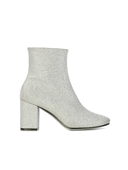 78d89ac45 Balenciaga Women's 541836Wa7008100 Silver Leather Ankle Boots ...