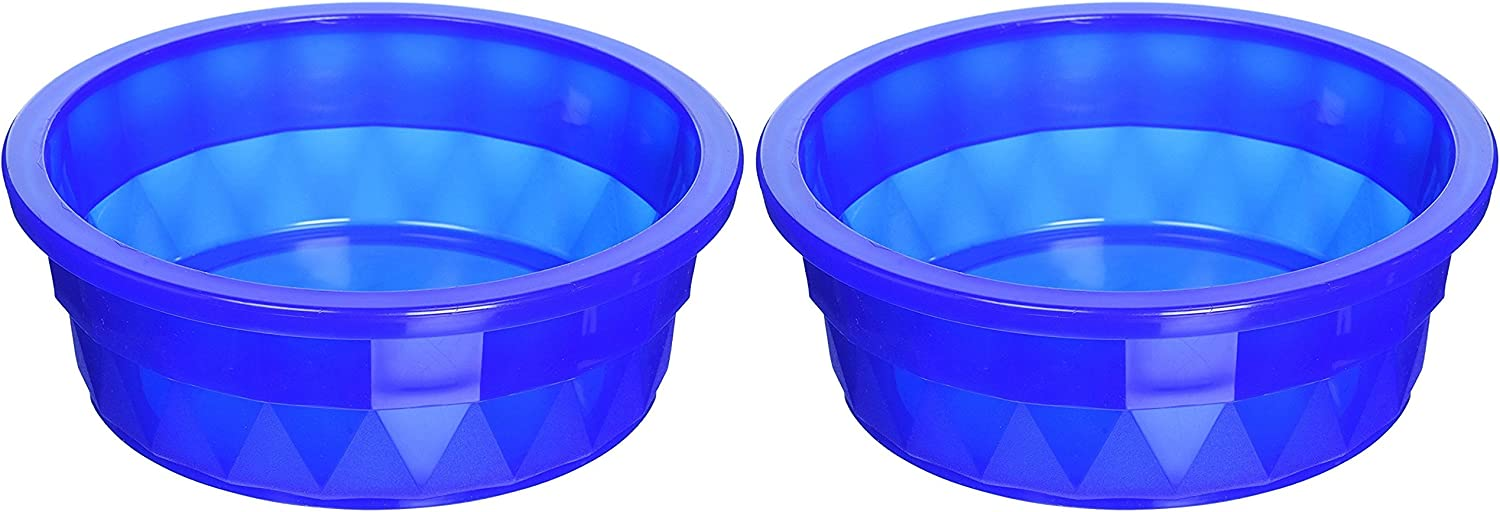 (2 Pack) Van Ness Heavyweight Translucent Large Crock Dish, 52 Ounce Per Bowl