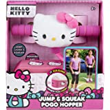 Hello Kitty Jump and Squeak Foam Pogo Jumper by Flybar - Fun & Safe Foam Bungee Pogo Hopper Toy With Cute Plush Hello Kitty Head, For Ages 3 & Up - Genuine Sanrio Product,Pink