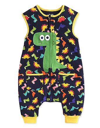 Saco de dormir para bebé Vaenait Baby, para niños de 1 a 7 años, 100 % algodón, diseño de dinosaurio: Amazon.es: Ropa y accesorios