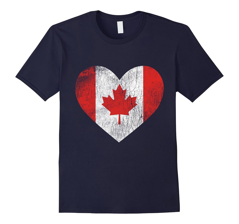 Canada Love American Flag Gift Tee T Shirt Tee-Vaci