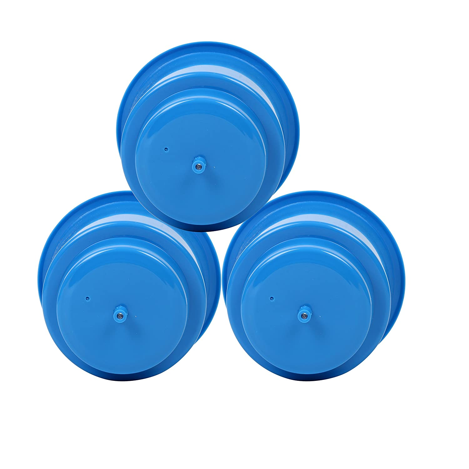 3 PCS, Blue Set of 3 Amarine-made Recessed Plastic Cup Drink Can Holder with Drain for Boat Car Marine Rv