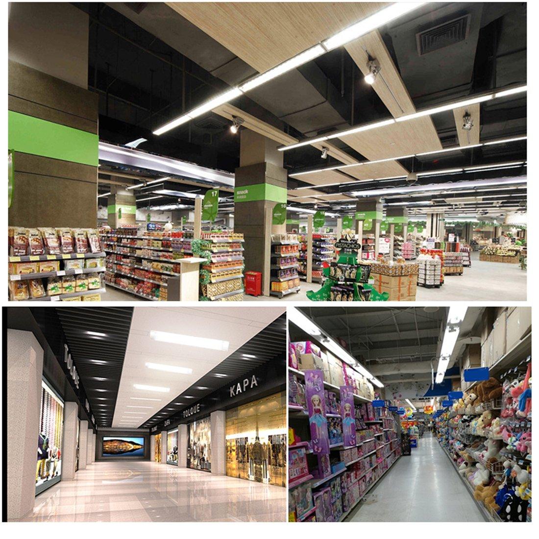 XYD 2pcs//Set 40W Tubo Luminoso a LED 120cm 6000K Lampade Fluorescenti Per Ufficio Soggiorno Sala Da Pranzo Fabbriche Cucina Corridoio Supermercati