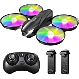 Tomzon Mini Drone for Kids, LED Light Stunt RC Quadcopter Headless Mode Altitude Hold, Remote Control 3D Flips One Key Back,