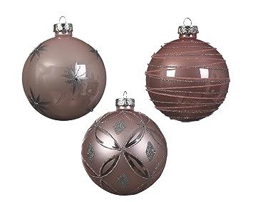 My Goodbuy24 12er Set Luxus Weihnachtskugeln Echtglas Glaskugeln