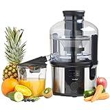 VonShef Professional 800W Whole Fruit Power Juicer - with Wide Feeding Tube, Juice Jug & Cleaning Brush