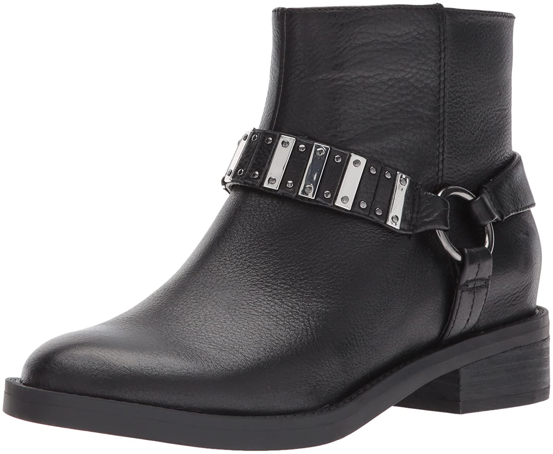 Nine West Women's Tanit Leather Ankle Boot B01MZI6MBX 9.5 B(M) US|Black