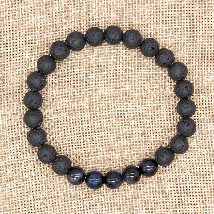 Bivei - Bracelet mala bouddhiste de guérison, bijou diffuseur dhuiles  essentielles avec pierres de lave, ... 742472134846