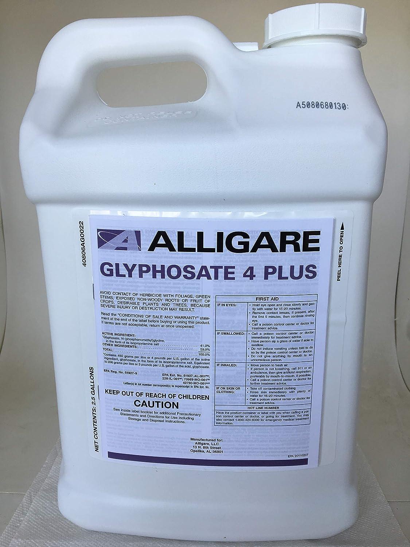 Glyphosate 4 + Plus Herbicide - 41% Glyphosate with Surfactant - 2 5 Gallon  Credit 41 Extra