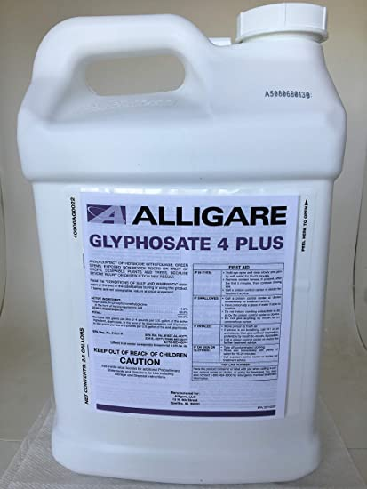 Glyphosate 4 + Plus Herbicide - 41% Glyphosate with Surfactant - 2 5 Gallon  Credit 41 Extra