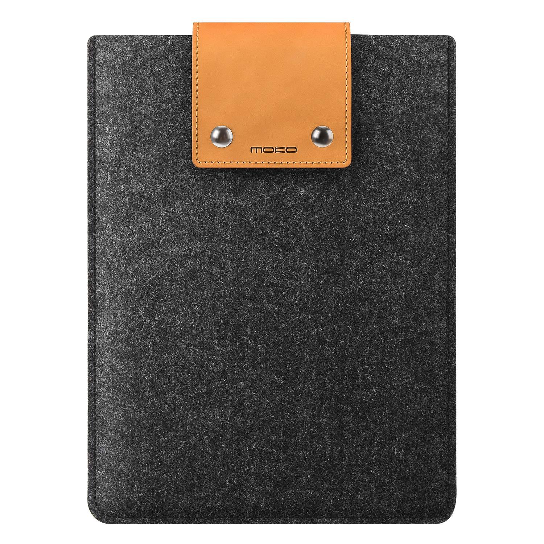iPad Pro 9.7 Inch Tablet Felt Pouch with Snap Buttons MoKo 9.7-11 Inch iPad Sleeve Case Fits iPad 10.2 2019 iPad 9.7 6th//5th Generation iPad Pro 11 Gray /& Brown iPad Pro 10.5 iPad Air 3 10.5