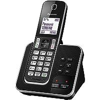 Panasonic DECT Digital Cordless Phone with Answering System & Single Handset, Black (KX-TGD320ALB)