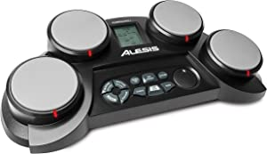 Alesis Compact Kit 4   Portable 4-Pad Tabletop Electronic Drum Kit with Velocity-Sensitive Drum Pads, 70 Drum Sounds, Coaching Feature, Game Functions,...