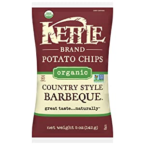 Kettle Brand Organic Potato Chips, Country Style Barbeque, 5 Ounce