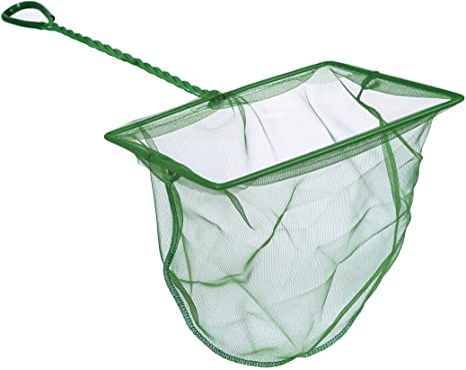 Green Pawfly 10 Inch Aquarium Fish Net Fine Mesh Fish Catch Nets with 13 inch Plastic Handle