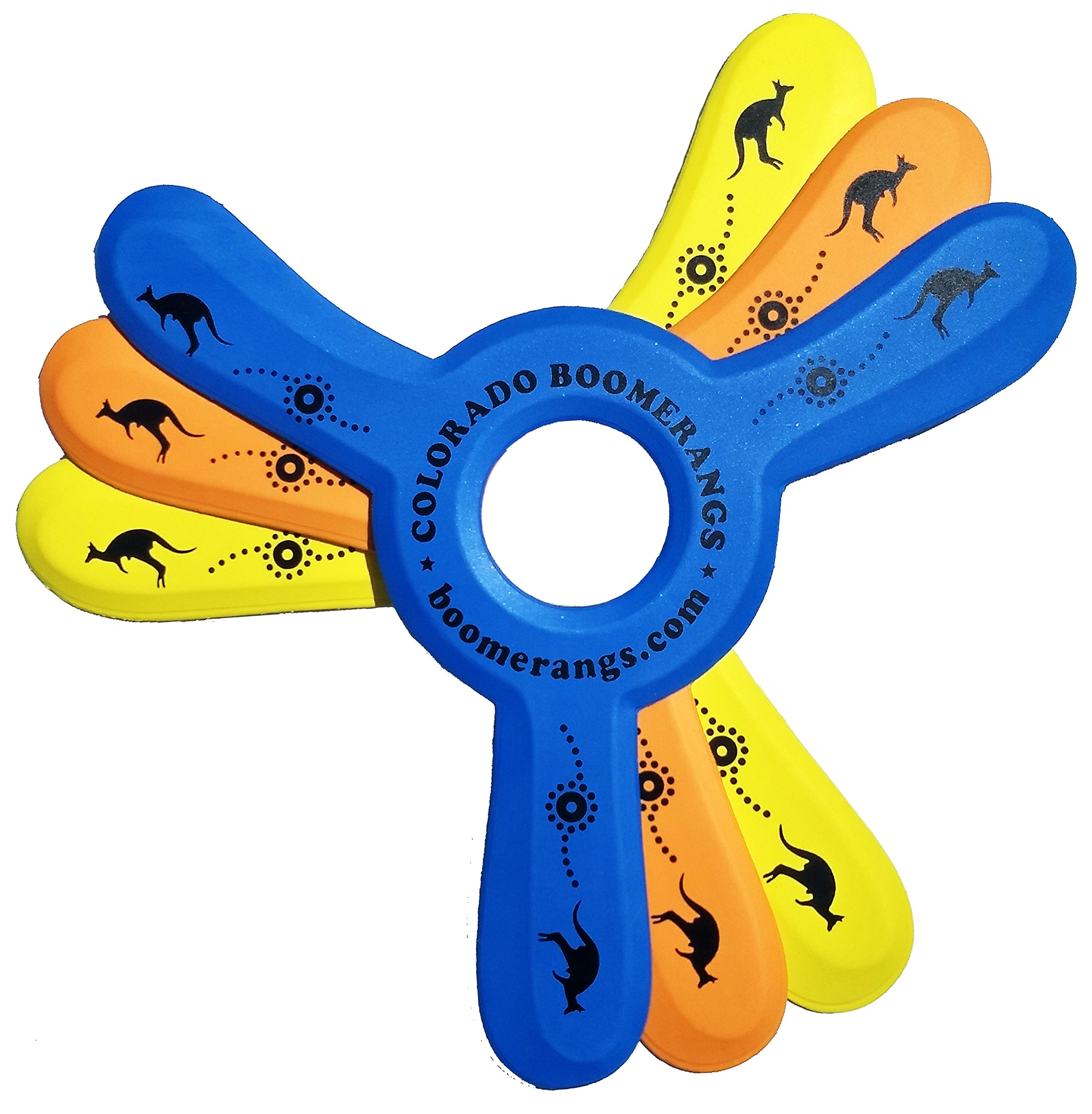 Colorado Boomerangs Kanga Boomerang 3 Pack, 3 Kids Boomerangs from