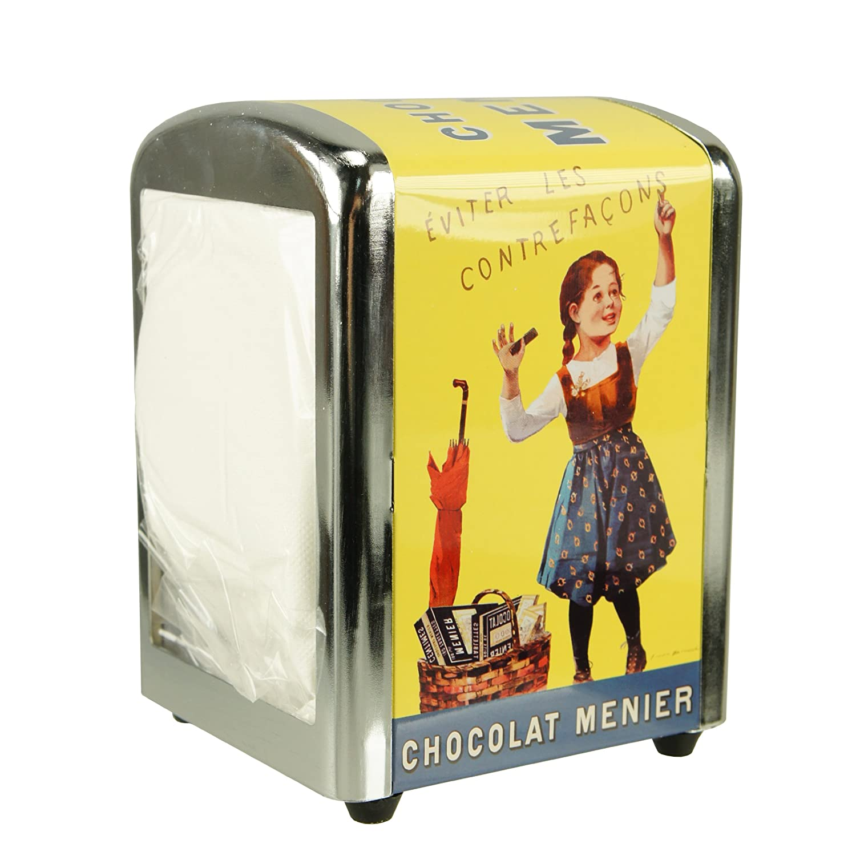 /Éditions Clouet 16606 Portatovaglioli da bar Chocolat Menier di Dos-Bouisset motivo