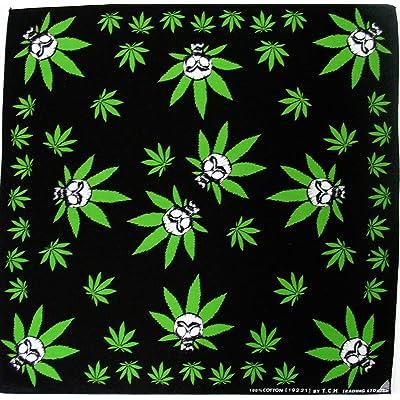Reggae cannabis motif feuille de cannabis marijuana bandana bandana foulard bandana chapeau motard sport