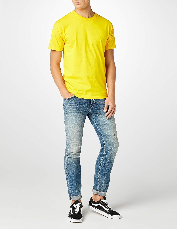 Fruit of the Loom Men's Super Premium Short Sleeve T-Shirt Sunflower