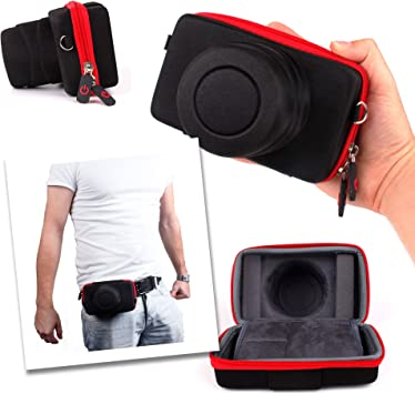 DURAGADGET Funda/Estuche para Nikon Coolpix S33 | Roja Y Negra: Amazon.es: Electrónica