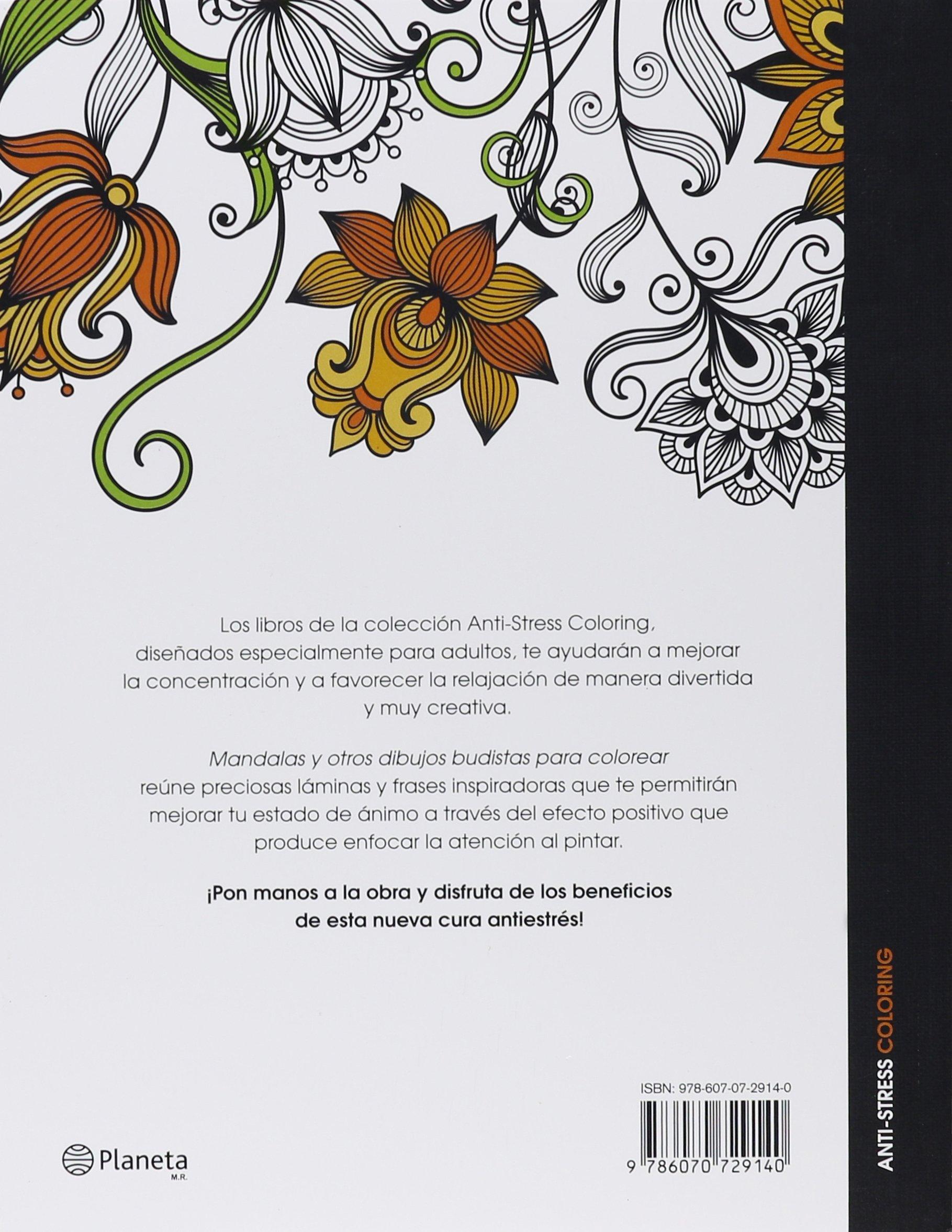 Mandalas y Otros Dibujos Budistas Para Colorear: Amazon.es: VV Aa ...