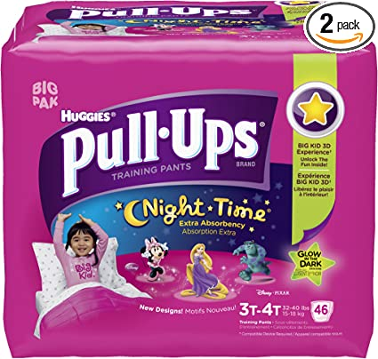 FREE EXPEDITED SHIPPING Huggies Pull-Ups Night Time Training Pants for Boys