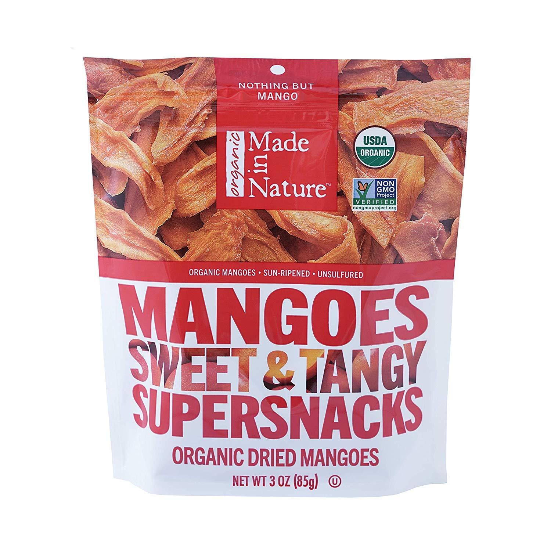 Made In Nature Organic Dried Mangos, 3 Oz