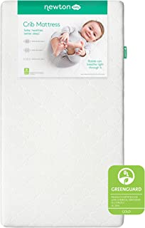 product image for Newton Baby Crib Mattress and Toddler Bed - 100% Breathable Proven to Reduce Suffocation Risk, 100% Washable, 2-Stage, Hypoallergenic Non-Toxic Better Than Organic, Removable Cover Included- White