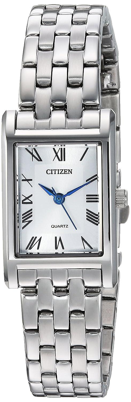 Citizen Women s Rectangular MOP Stainless Steel Watch
