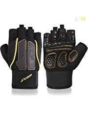 Trideer Padded Weight Lifting Gloves, Gym Gloves, Workout Gloves, Rowing Gloves, Exercise Gloves for Weight Lifting, Fitness, Cross Training for Men & Women