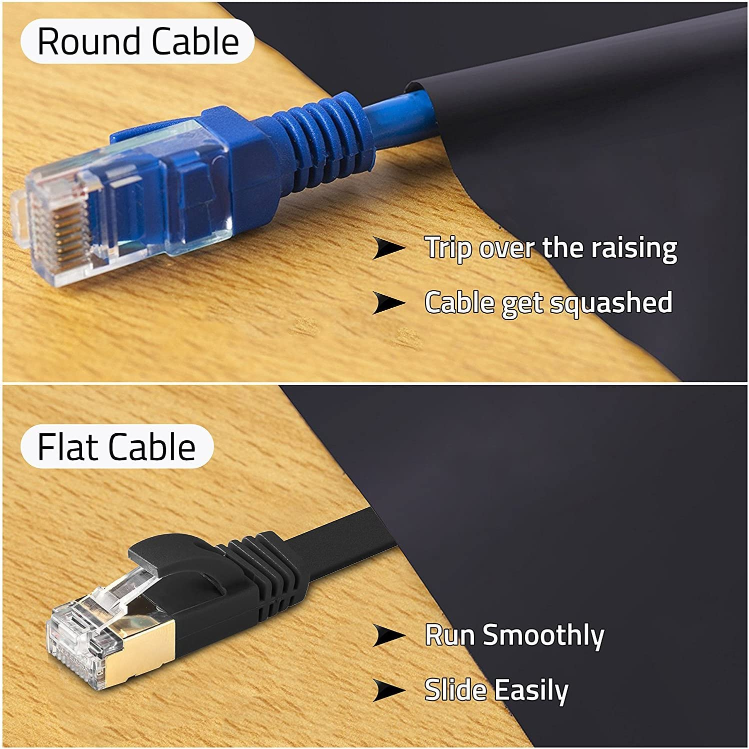 2m Minyangjie Network Accessories LAN Cable Tools CAT7 Gold Plated Dual Shielded Full Copper LAN Network Cable Length