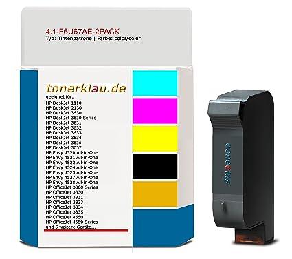 compatible Cartucho de tinta de 4.1 F6u67ae 2pack para: HP ...