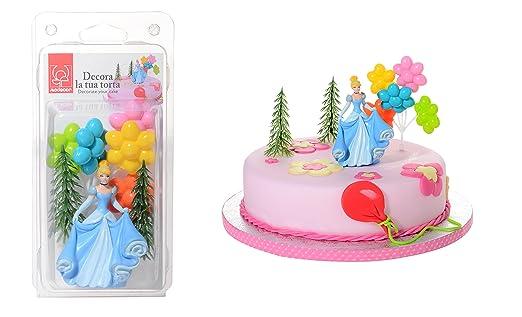 Kit Decoración Pastel princesa Cenicienta 4pcs - cumpleaños ...