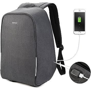 60cbf26604f92 Kopack 17 Zoll Anti Diebstahl Laptop Rucksack Wasserdichter Geschäft  Reiserucksack mit Regen-Abdeckung USB