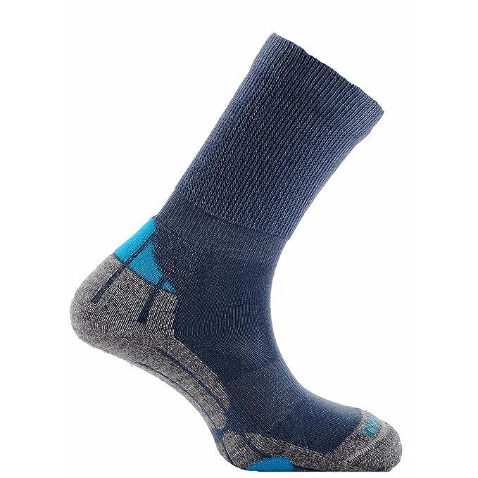 Horizon - Calcetines de senderismo de lana merino Unisex (31-35 EU/Azul