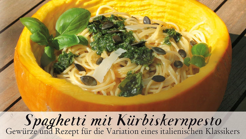 Feuer & Glas, Receta para Spaguetti con Pesto de Calabaza con Especias, 47 g: Amazon.es: Alimentación y bebidas