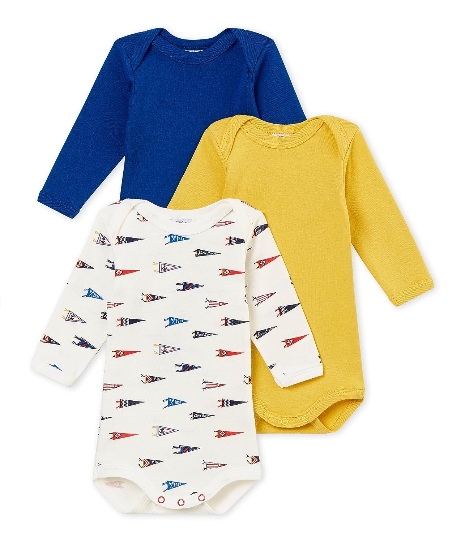 Petit Bateau Baby-Jungen Formender Body, 3er Pack 4370500