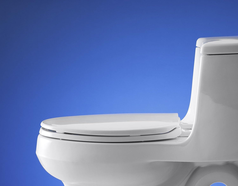 KOHLER K-4774-7 Brevia with Quick-Release Hinges Elongated Toilet ...