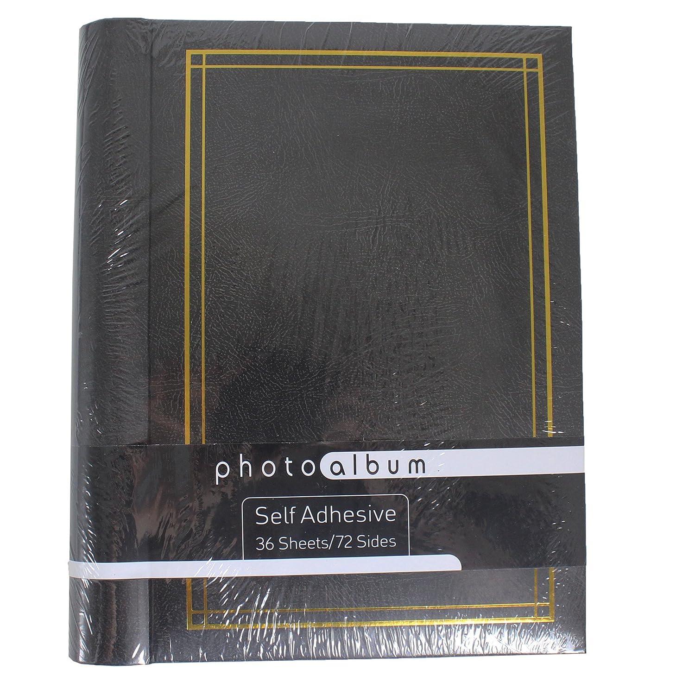 /Noir Album photo autocollant spirale classeur /à anneaux 36/feuilles 72/pages/