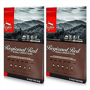 Orijen 2 Pack Regional Red Cat Food 4 Lb Each Bag. Biologically Appropriate Cat Food