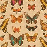 Caspari Deyrolle - Papel pintado para pared (2,4 m), diseño de mariposas, color dorado