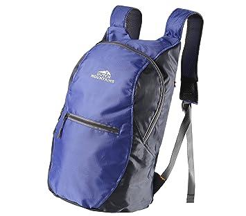 Dutch Mountains Backpack tilo Senderismo bolsas Mochila con bolsillos Trekking Mochilas 14L Foldable, color azul, tamaño 50x27,5x16cm: Amazon.es: Deportes y ...