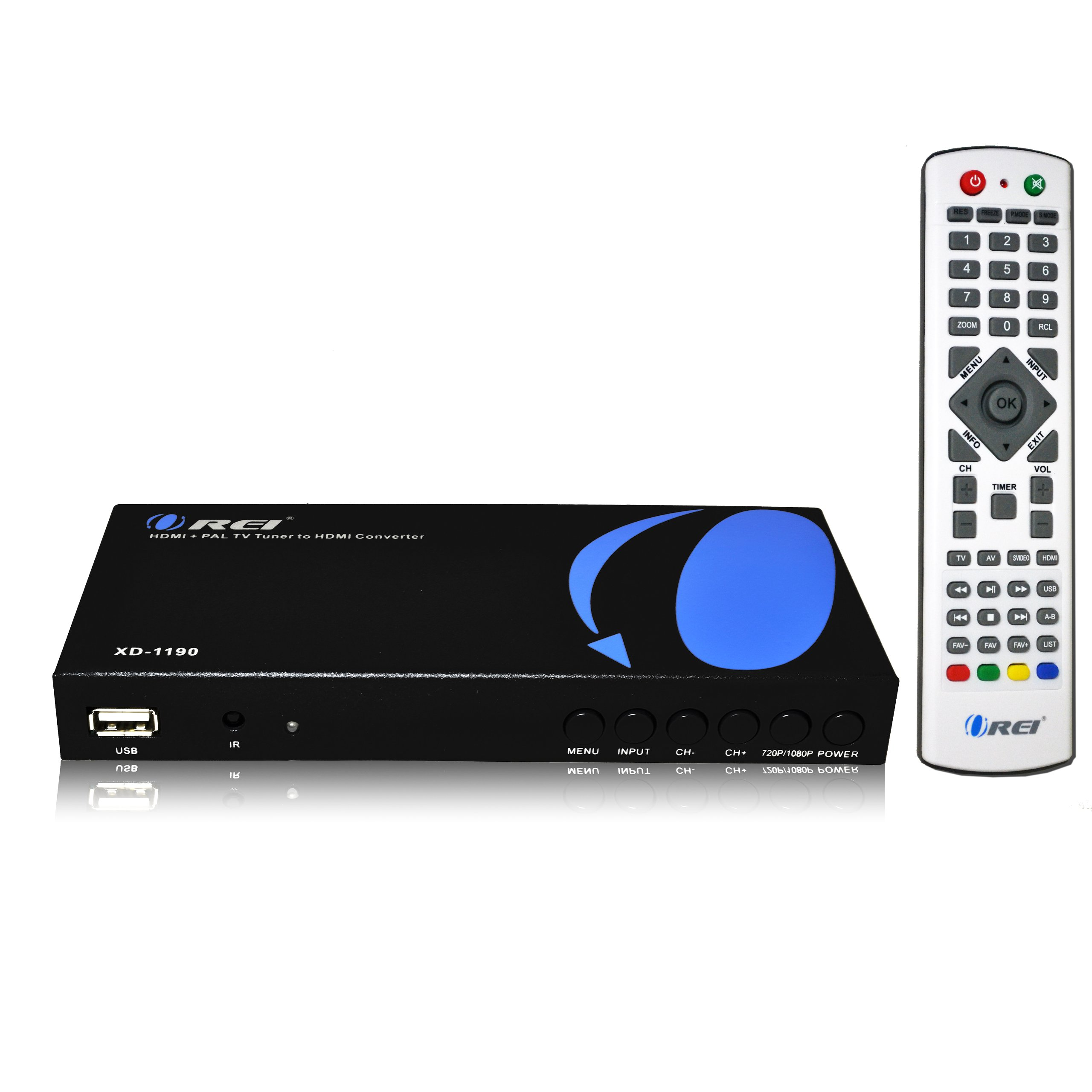 Orei XD-1190 PAL HDMI/RCA to NTSC HDMI Converter Built in Analog TV Tuner