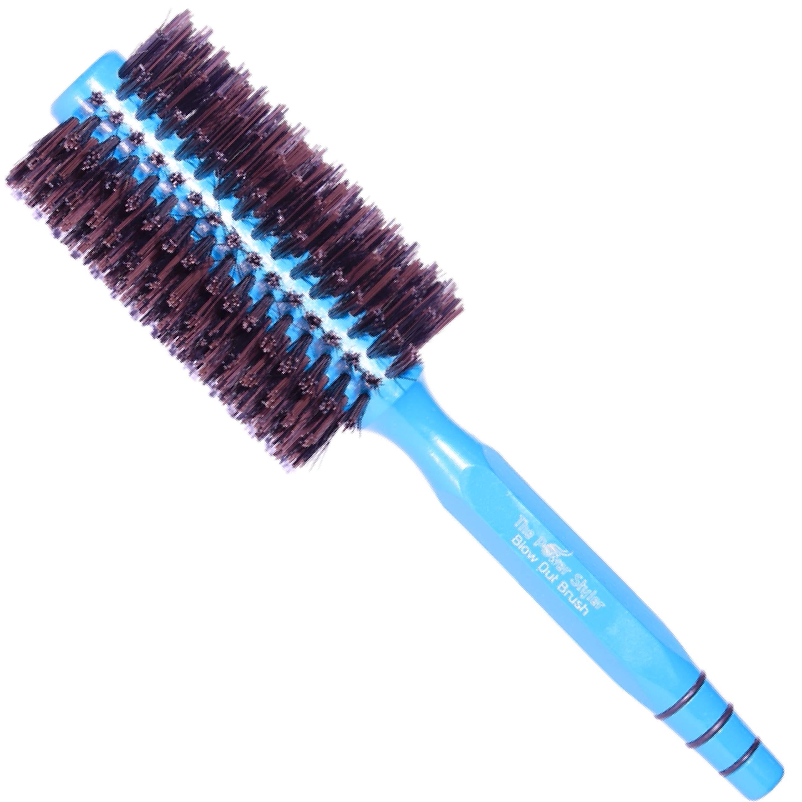 Round Brush, Boar Bristle Hair Brush for Women, Hair straightening Brush or Curling Brush