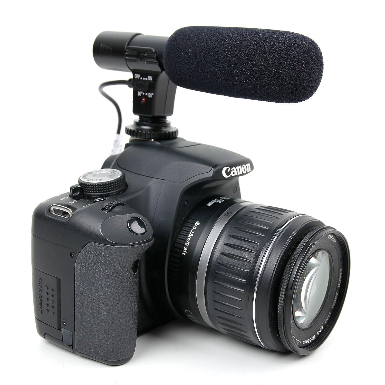 DURAGADGET Micrófono para cámara Nikon D5, Nikon D500, Nikon D5100, Nikon  D5200, Nikon D5300, Nikon D5500: Amazon.es: Electrónica