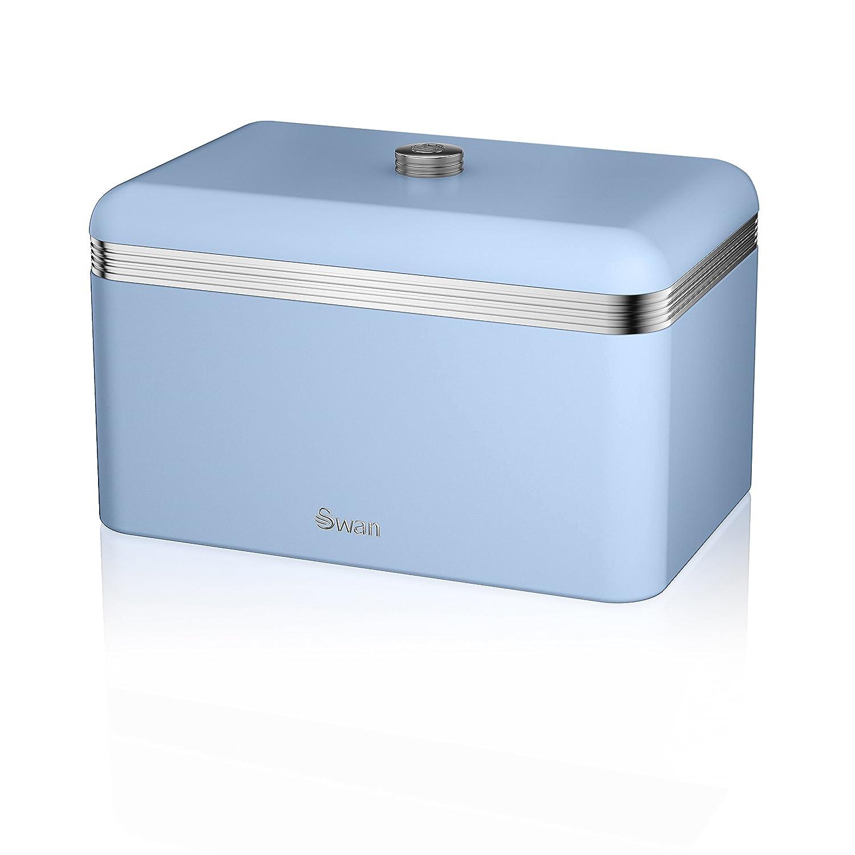 Swan Products Retro Bread Bin, Blue by Swan Products SWKA1010BLN