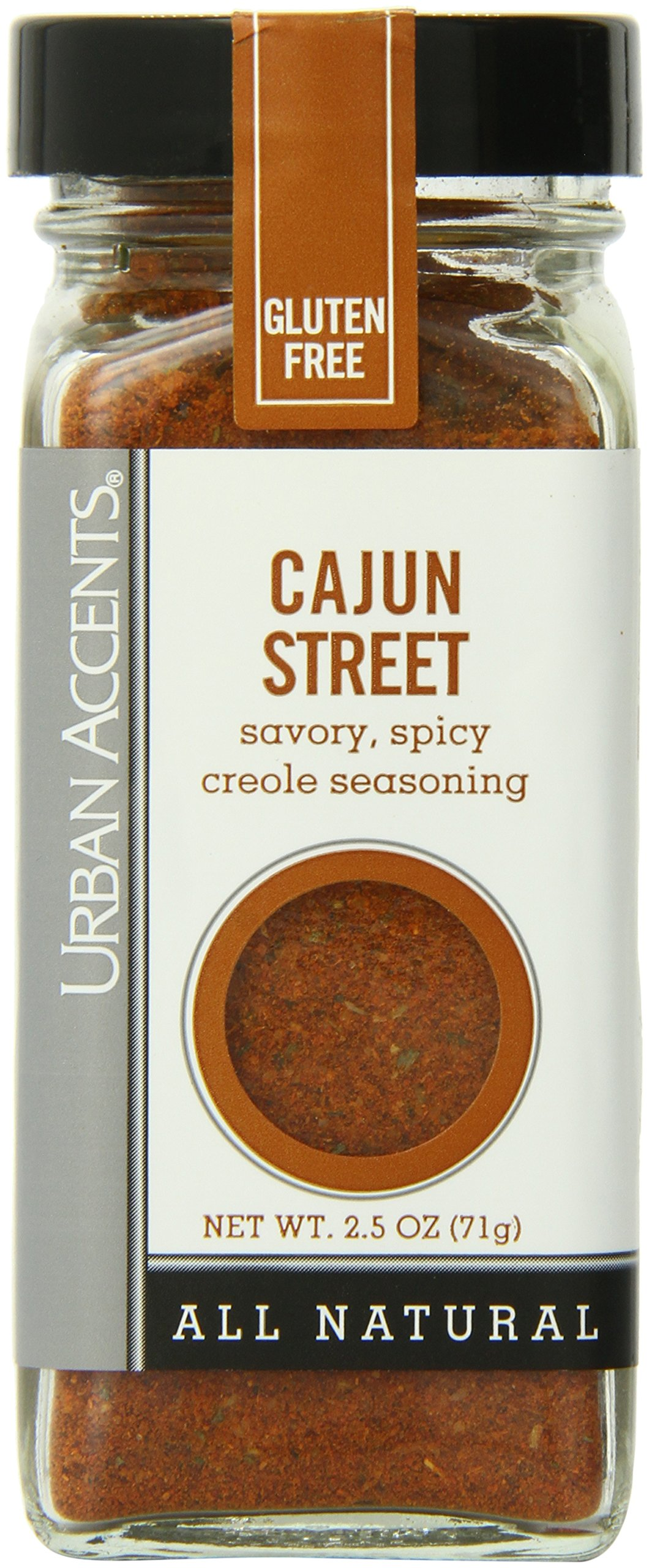 Urban Accents Cajun Street Cajun Seasoning Blend, 2.5-Ounce Bottles (Pack of 6)