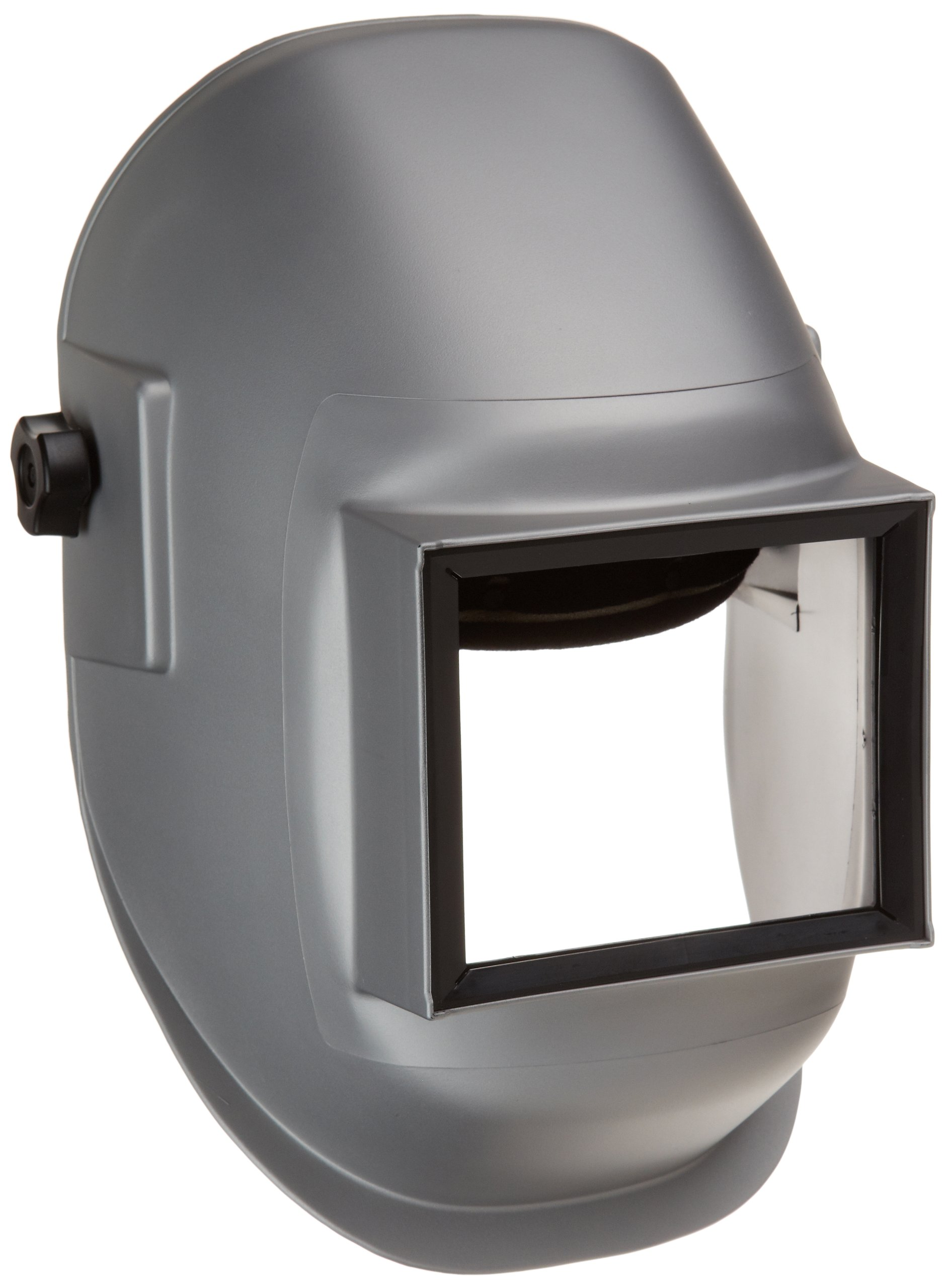 Sellstrom 29911 Nylon Super Kool Silver Coated Welding Helmet with 4-1/2'' Width x 5-1/4'' Height Sel-Snap Fixed Front